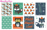 Winter Fox Weekly Kit for the Erin Condren Life Planner Vertical