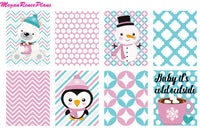 Frosty Friends Weekly Kit for the Erin Condren Vertical Life Planner - MeganReneePlans