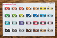 Camera Icon Matte Planner Stickers - MeganReneePlans