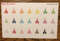 Church Icon Matte Planner Stickers