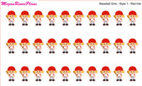 Baseball Girl / Baseball Kid / Baseball Planner Stickers - MeganReneePlans