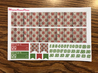 Vintage Christmas Weekly Kit for the Classic Happy Planner - MeganReneePlans