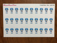 Football Boy / Football Player / Football Game / Football Practice Matte Planner Stickers - MeganReneePlans
