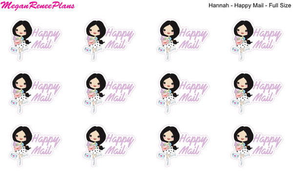 Happy Mail Functional Character Planner Stickers