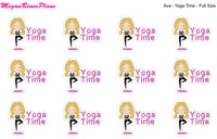 Yoga / Yoga Time / Yoga Class Functional Character Planner Stickers - MeganReneePlans