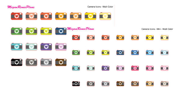 Camera Icon Matte Planner Stickers