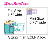 Happy Mail Matte Planner Stickers - MeganReneePlans
