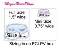 Sleep In / Sleeping Mask Matte Planner Stickers - MeganReneePlans