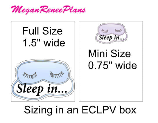 Sleep In / Sleeping Mask Matte Planner Stickers