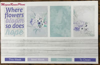 Hope Blooms Weekly Kit for the MAMBI Happy Planner Classic - MeganReneePlans