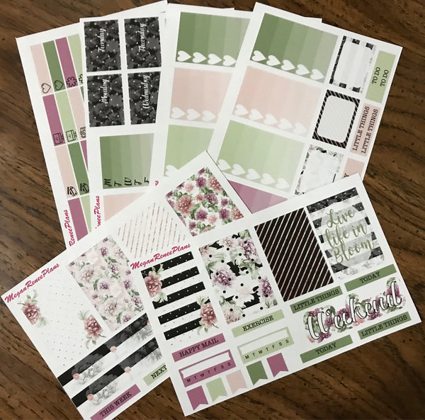Life in Bloom Weekly Sticker Kit for the Erin Condren Vertical Life Planner - MeganReneePlans