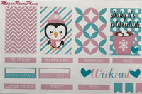 Frosty Friends Weekly Planner Sticker Kit for The Happy Planner Classic