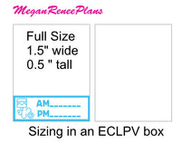 Blood Pressure Trackers for AM and PM Quarter Box Size Matte Planner Stickers
