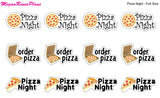 Pizza Night / Order Pizza / Matte Planner Stickers - MeganReneePlans