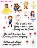Beauty and the Beast Inspired Deco and Quote Mini Sheet