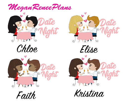 Date Night Planner Stickers - MeganReneePlans