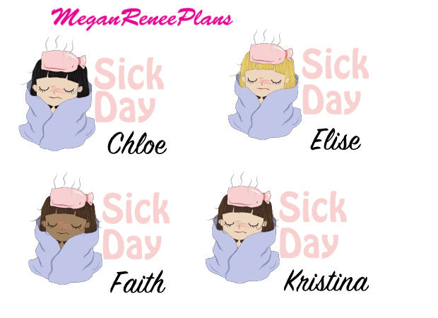 Sick Day Planner Stickers