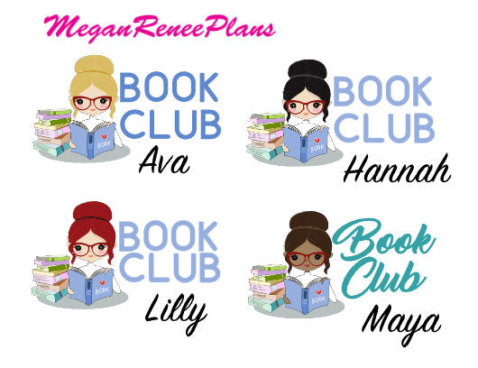 Book Club Functional Character Planner Stickers