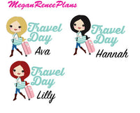 Travel / Traveling / Travel Day Functional Character Planner Stickers