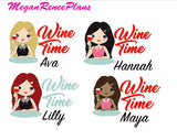 Wine Time / Wine Functional Character Planner Stickers