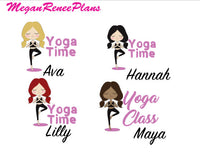 Yoga / Yoga Time / Yoga Class Functional Character Planner Stickers