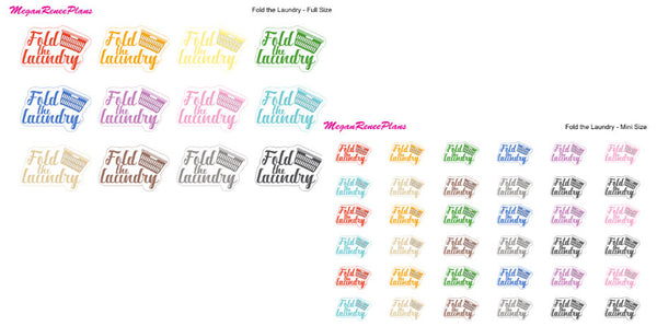 Laundry Matte Planner Stickers