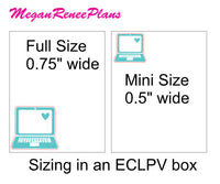 Laptop Matte Planner Stickers - Multi Color- Full Size or Mini Size - MeganReneePlans