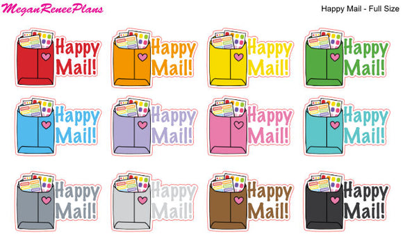 Happy Mail Matte Planner Stickers