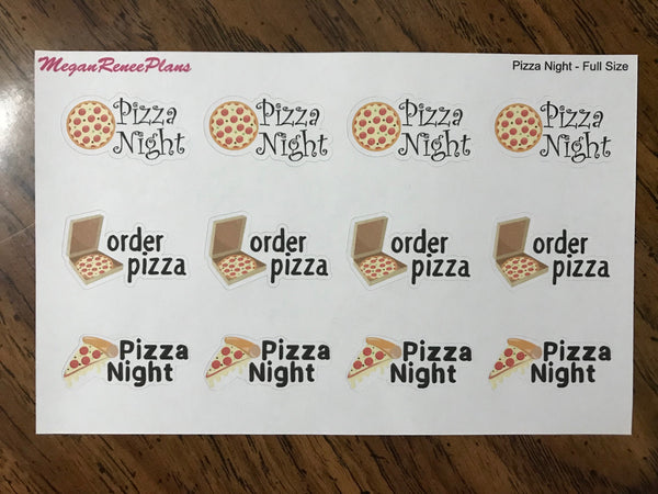 Pizza Night / Order Pizza / Matte Planner Stickers