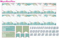 Teal Floral Weekly Kit for the Classic Happy Planner - MeganReneePlans
