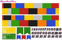 Brick Building Lego Inspired Weekly Kit for the Erin Condren Life Planner Vertical