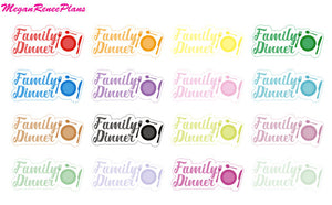 Family Dinner Matte Planner Stickers