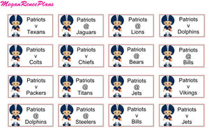 NFL Football Schedule Planner Stickers for the 2019 Season - all teams available