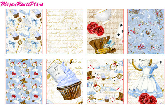 Alice in Wonderland Inspired Weekly Kit for the Erin Condren Life Planner Vertical