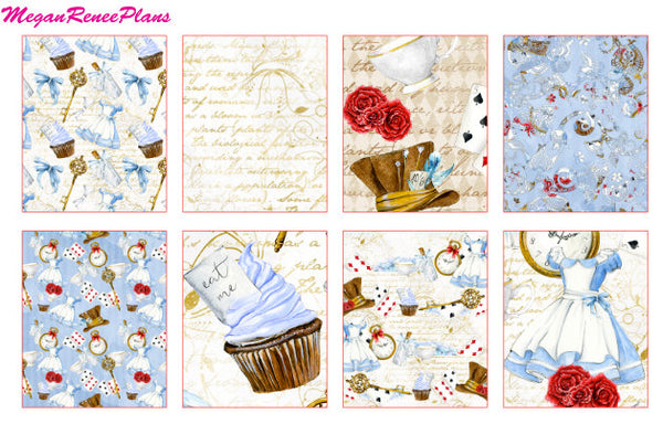 Alice in Wonderland Inspired Weekly Kit for the Classic Happy Planner - MeganReneePlans
