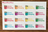 Aldi Haul or Grocery Shopping Matte Planner Stickers - MeganReneePlans