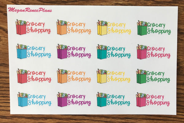 Aldi Haul or Grocery Shopping Matte Planner Stickers