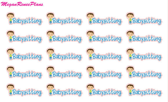 Babysit / Babysitting Functional Planner Stickers
