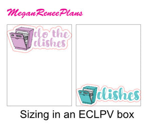 Dishes / Dishwasher / Do the Dishes Matte Planner Stickers