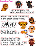 Lion King Inspired Mini Deco Quote Sheet