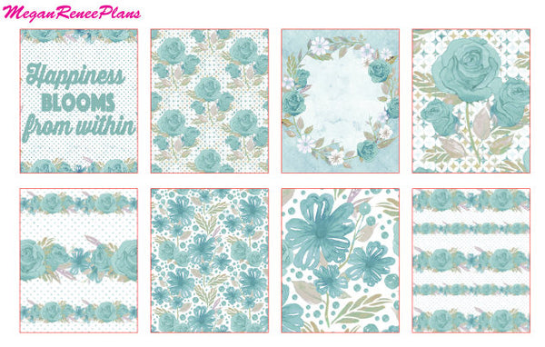 Teal Floral - FULL BOXES ONLY