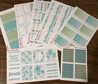 Teal Floral Weekly Kit for the Classic Happy Planner
