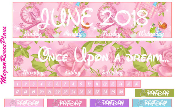 CUSTOM MONTH OPTION Monthly View Kit for the Classic Happy Planner