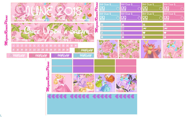 CUSTOM MONTH OPTION Monthly View Kit for the Classic Happy Planner - MeganReneePlans