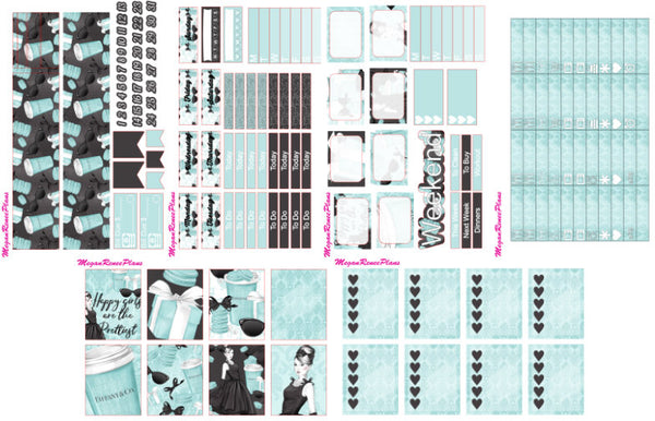 Breakfast at Tiffany's Inspired Weekly Planner Kit for the MAMBI Classic Happy Planner - MeganReneePlans