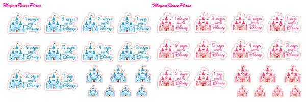 Castle Trip Countdown Planner Stickers