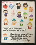 Snow White Inspired Mini Deco Quote Sheet - MeganReneePlans
