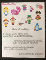 Alice in Wonderland Inspired Mini Deco Quote Sheet - MeganReneePlans