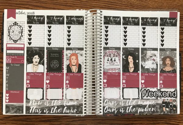 The Craft Inspired Weekly Planner Kit for the Erin Condren Life Planner Vertical
