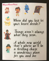 Aladdin Inspired Mini Deco Quote Sheet - MeganReneePlans